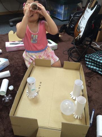 【娘と工作】エアーホッケーもどきを作る の巻